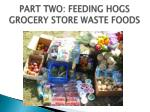part two feeding hogs grocery store waste foods