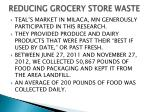 reducing grocery store waste