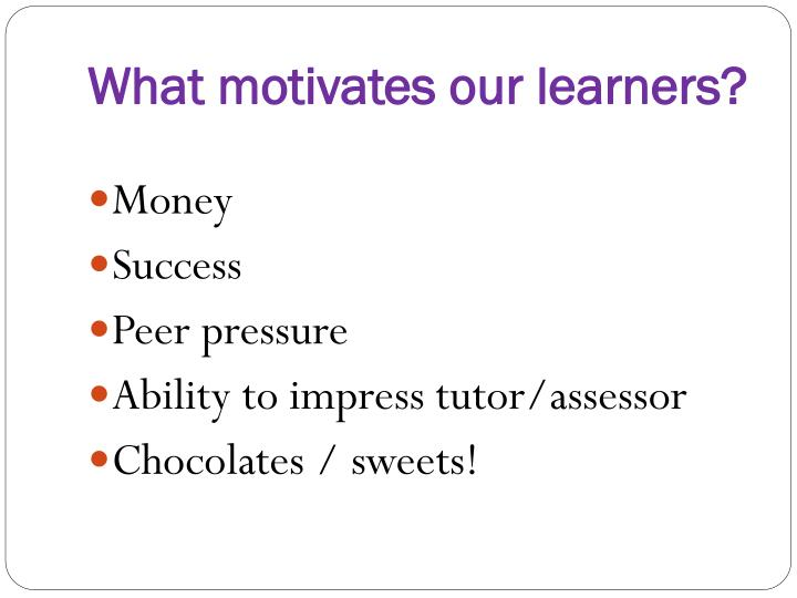 What motivates our learners?