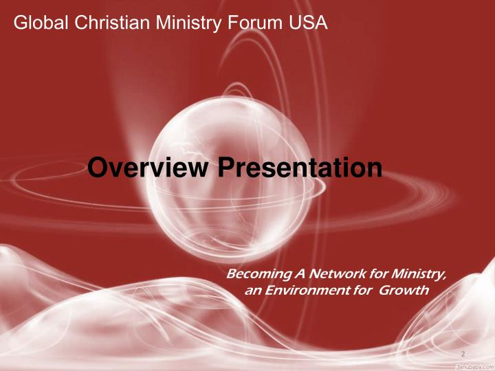Global Christian Ministry Forum USA