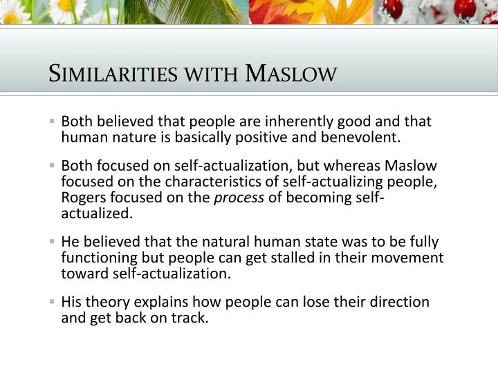 Similarities with Maslow