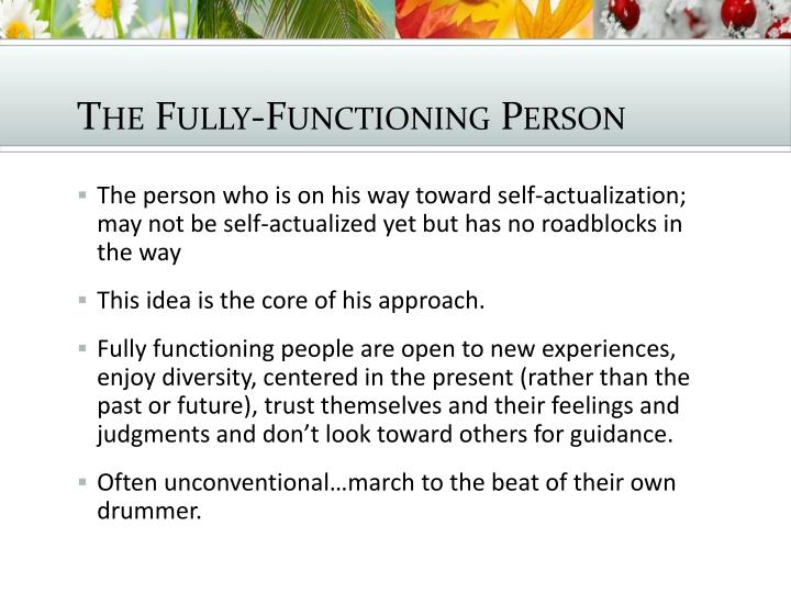 The Fully-Functioning Person