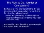 the right to die murder or compassion
