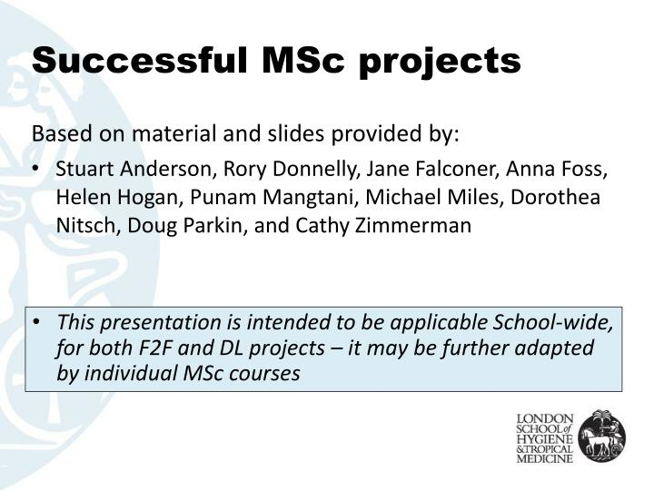 Successful msc projects1