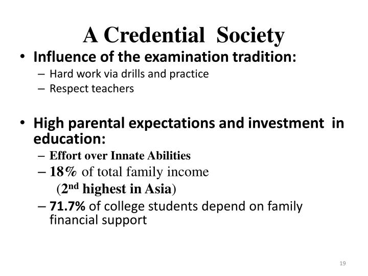 A Credential  Society