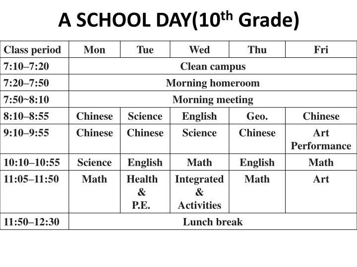A SCHOOL DAY(10