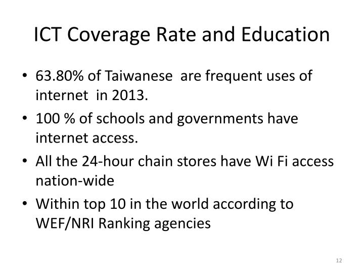 ICT Coverage Rate and Education