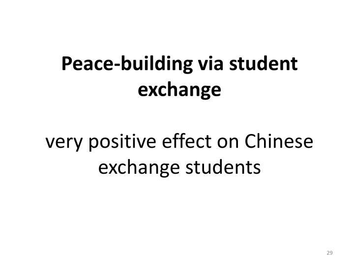 Peace-building via student exchange