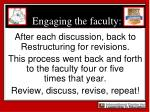 engaging the faculty