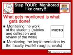 step four monitored like crazy