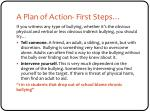 a plan of action first steps
