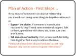 plan of action first steps