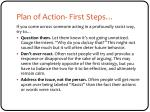 plan of action first steps1
