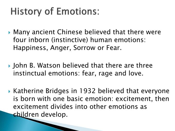 History of emotions