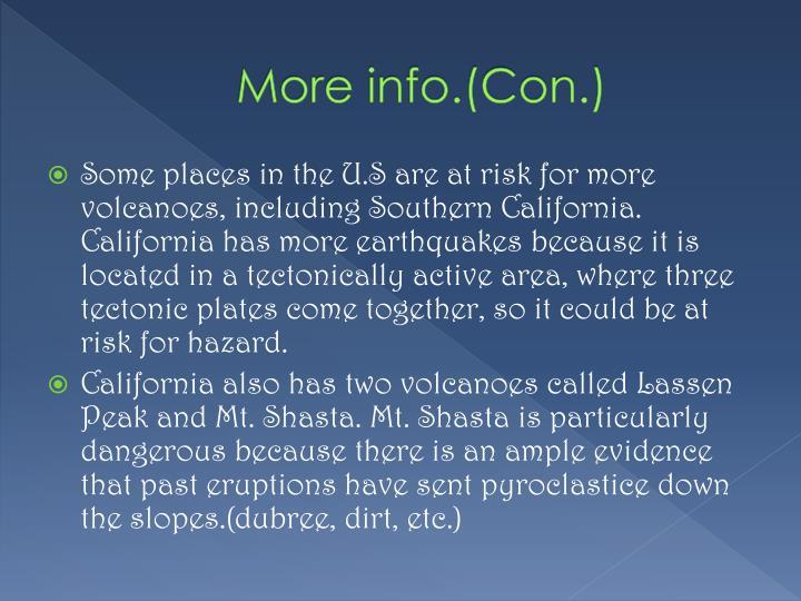 More info.(Con.)