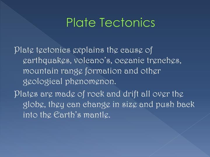 Plate tectonics1