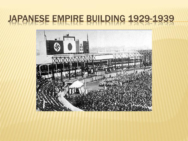 Japanese Empire Building 1929-1939