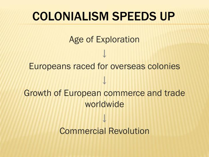 COLONIALISM SPEEDS UP