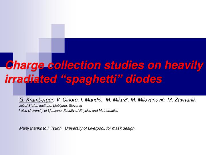Charge collection studies on heavily irradiated spaghetti diodes