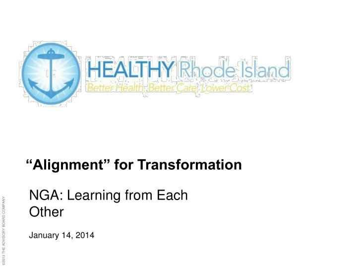 """""""Alignment"""" for Transformation"""