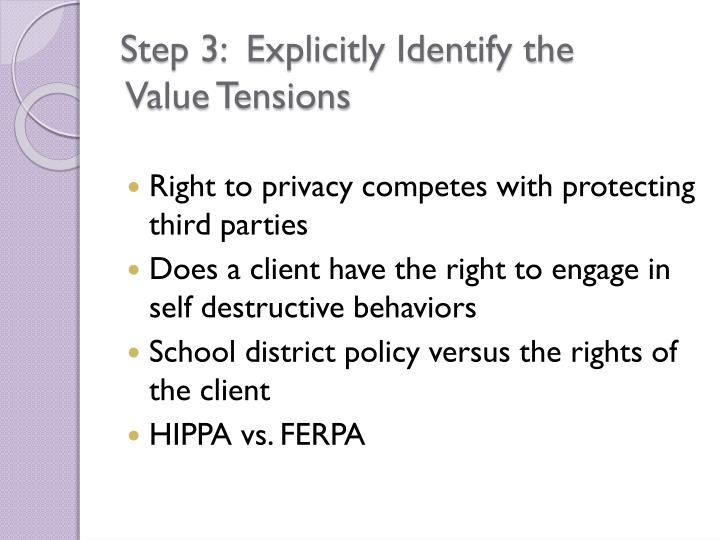 Step 3:  Explicitly Identify the