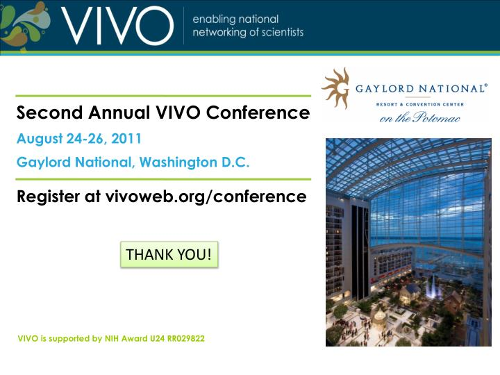 Second Annual VIVO Conference