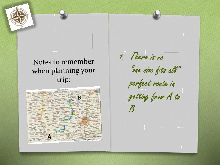Notes to remember when planning your trip