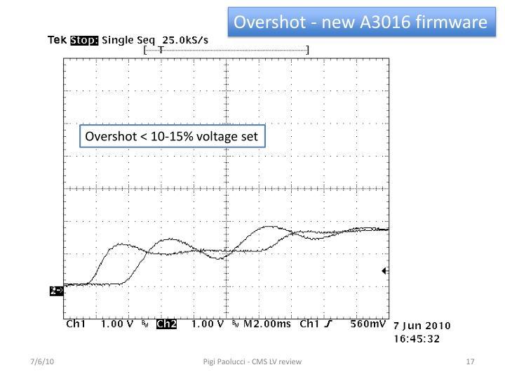 Overshot - new A3016 firmware