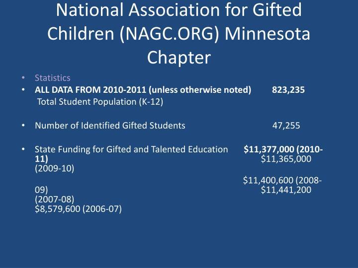 National Association for Gifted Children (NAGC.ORG) Minnesota Chapter