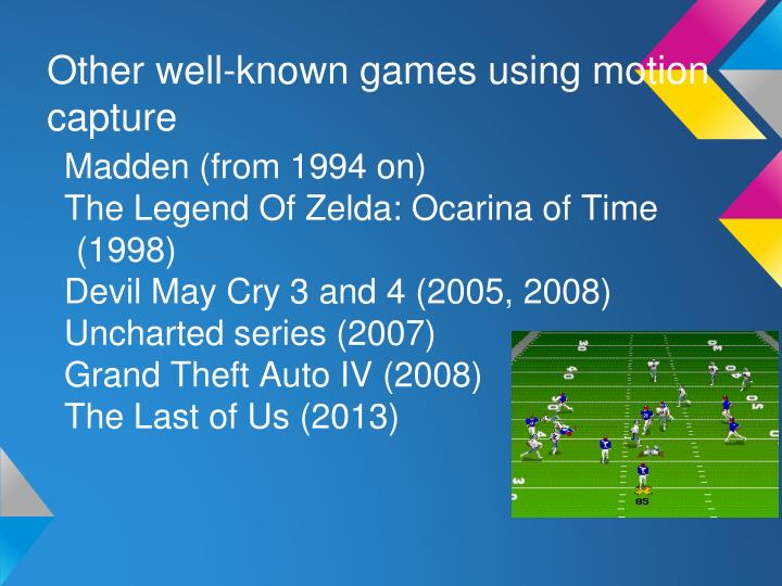 Other well-known games using motion capture