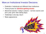 more on institutional investor decisions1