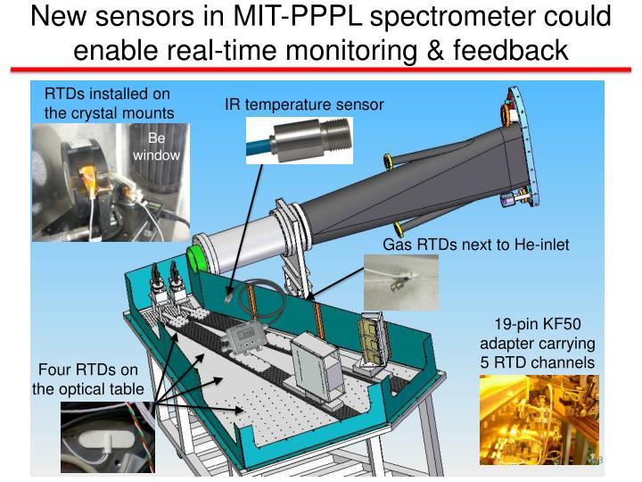 New sensors in MIT-PPPL spectrometer
