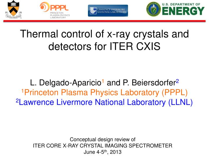 Thermal control of x-ray crystals and detectors for ITER CXIS