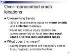over represented crash locations
