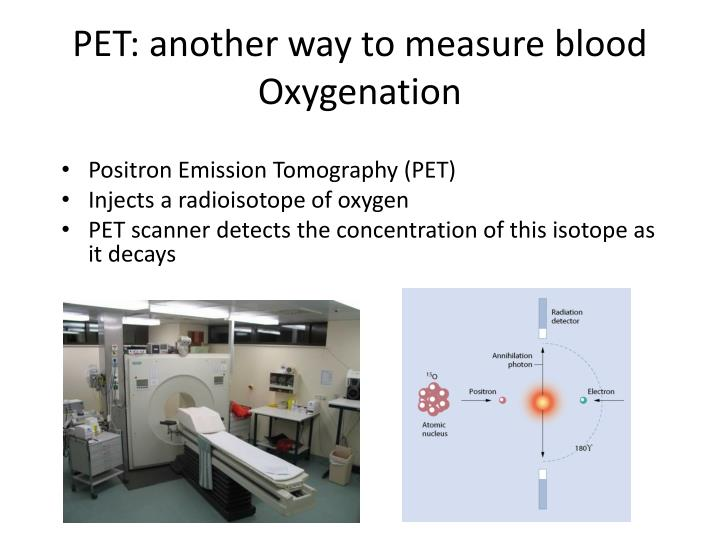 PET: another way to measure blood Oxygenation