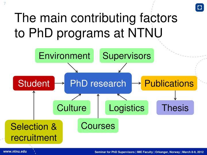 The main contributing factors