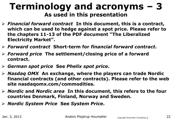 Terminology and acronyms – 3