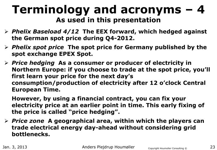 Terminology and acronyms – 4