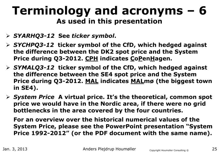 Terminology and acronyms – 6