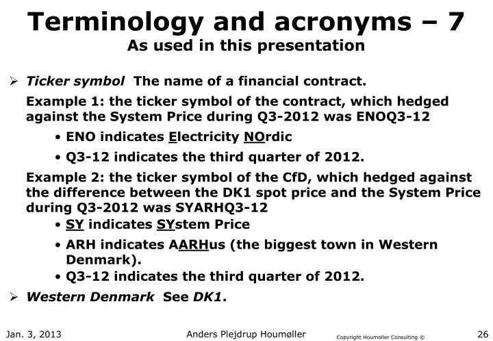 Terminology and acronyms – 7