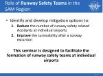 role of runway safety teams in the sam region