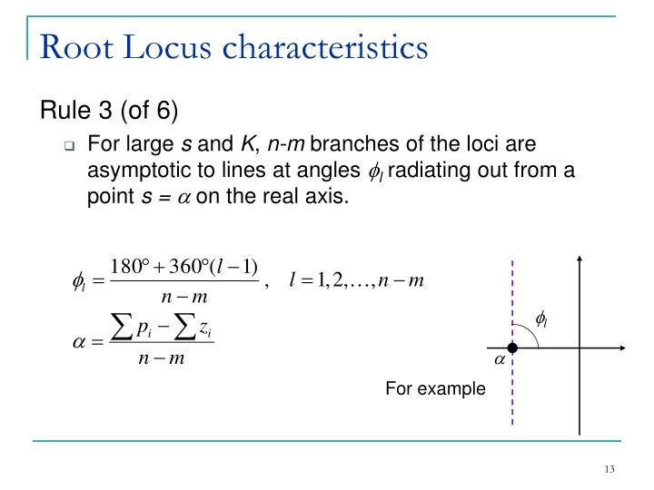 Root Locus characteristics
