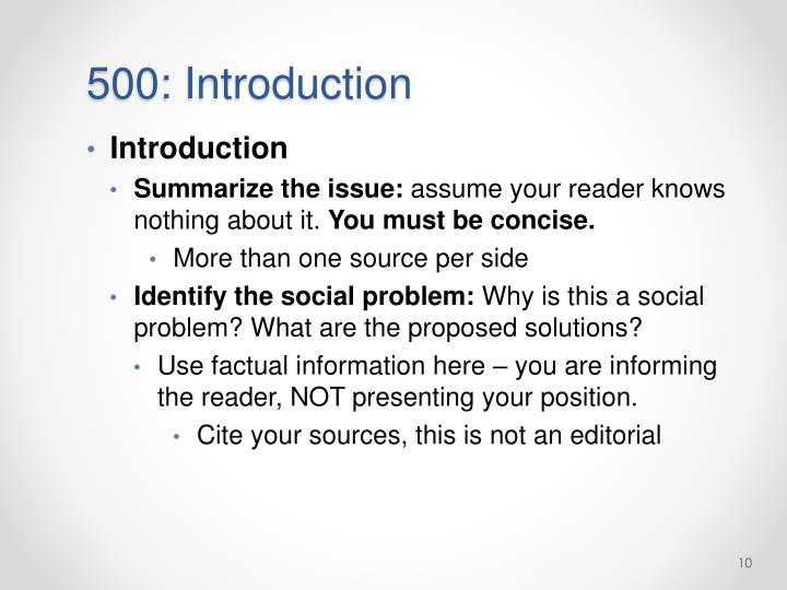 500: Introduction
