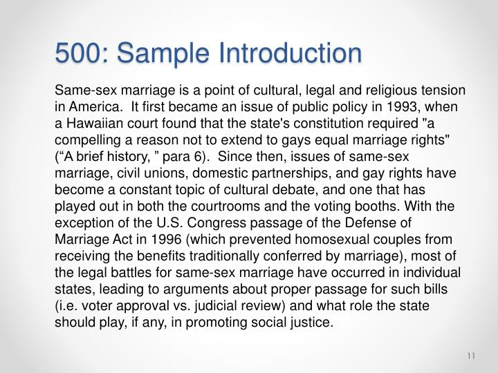 500: Sample Introduction