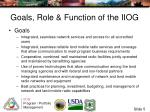 goals role function of the iiog