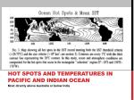 hot spots and temperatures i n pacific and indian ocean
