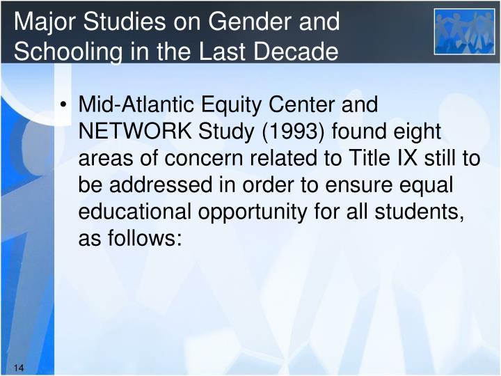 Major Studies on Gender and