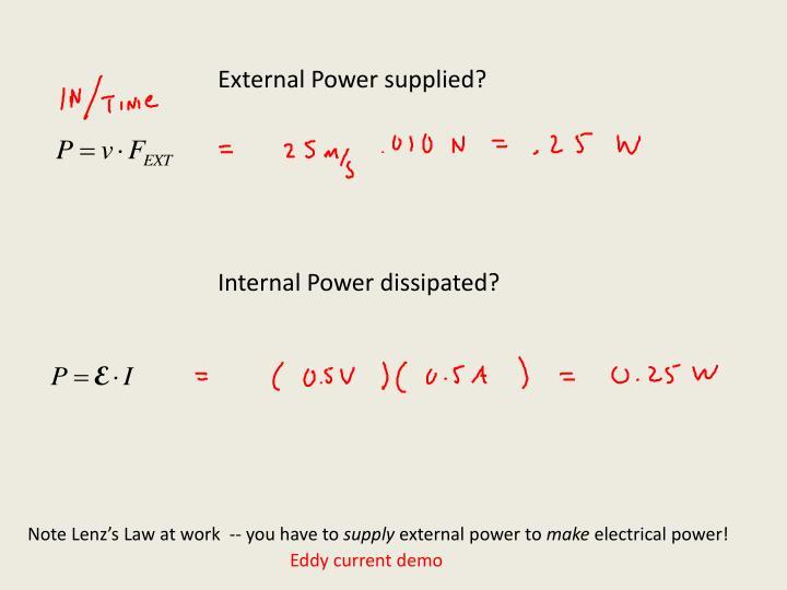 External Power supplied?