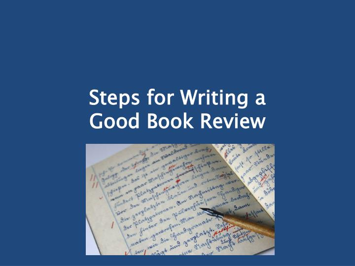 steps for writing a good book review