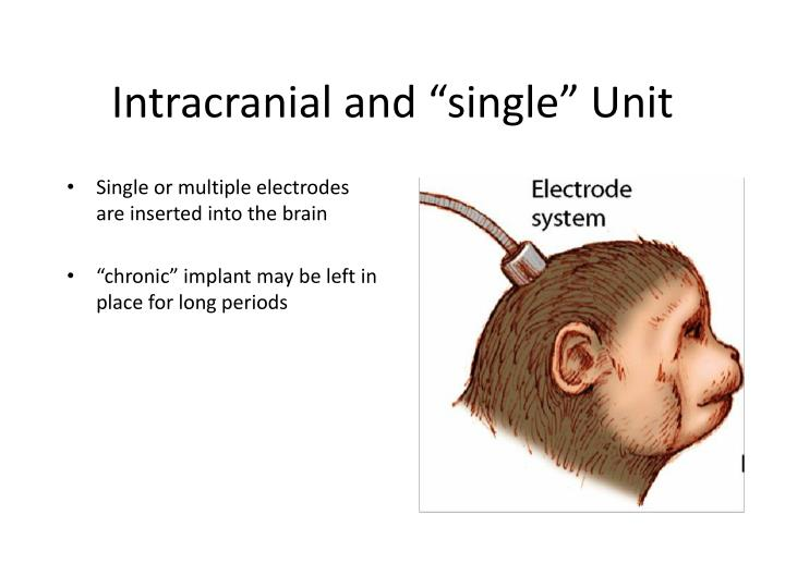 "Intracranial and ""single"" Unit"